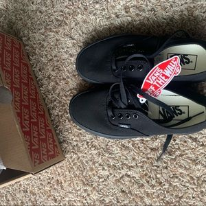 Brand New All Black Vans With Box and Tags.
